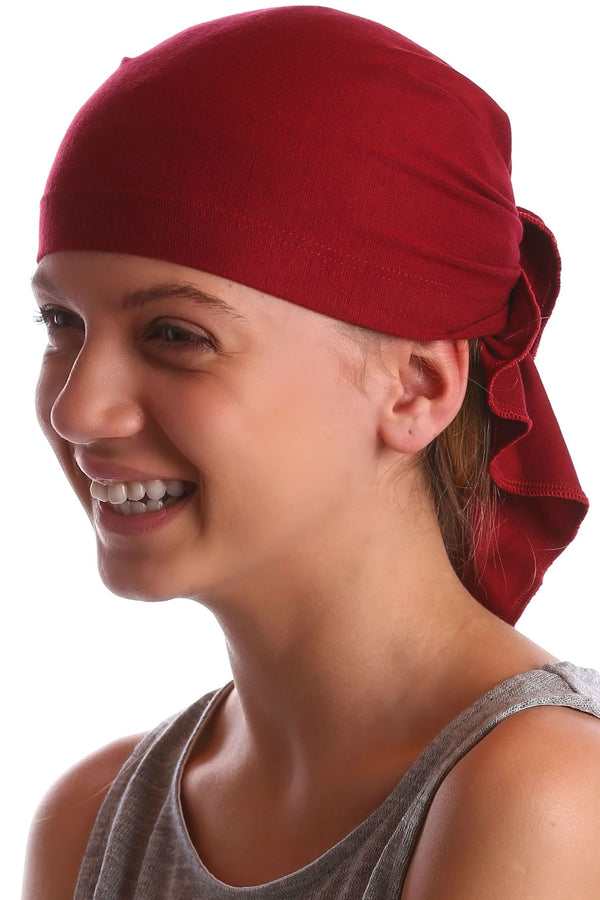Deresina Teen indoor bandana for hairloss burgundy