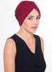 W Turban- Burgundy (Exclusive)