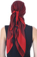 Reversible Square Scarf - Burgundy