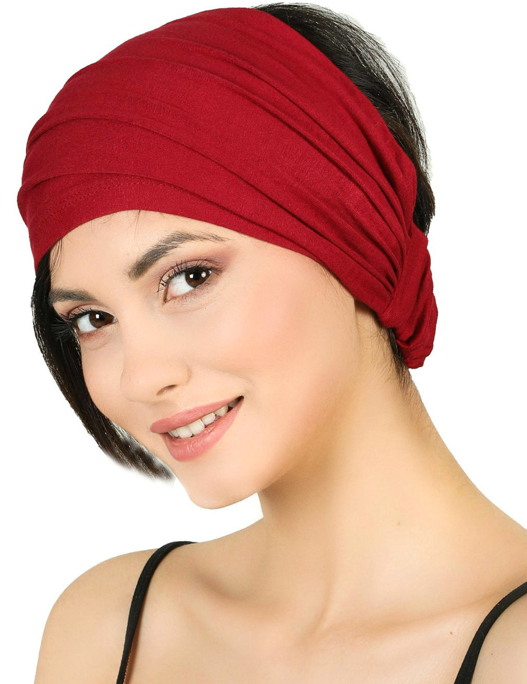 Elasticated Stretchy Headband - Burgundy