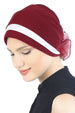 Deresina Padded hat for cancer patients burgundy cream
