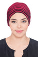 Velour Beaded Headwear - Burgundy