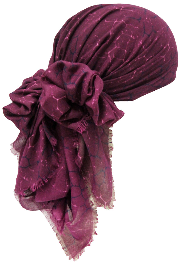 Deresina Seasonal Chemo Headscarf Mulberry Marble