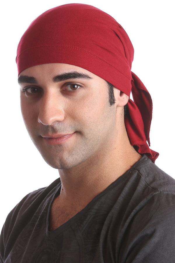 cotton chemo bandana for men burgundy