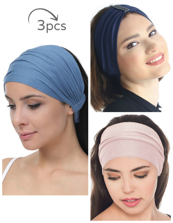 3 Pieces Headband -Carolina-Denim-Powder