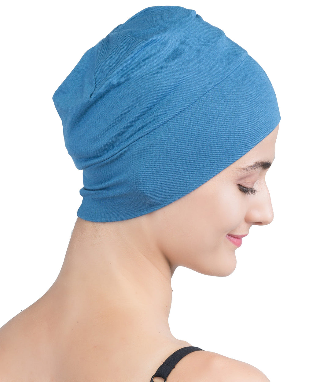 Wrap-fit Sleep Cap - Caroline Blue
