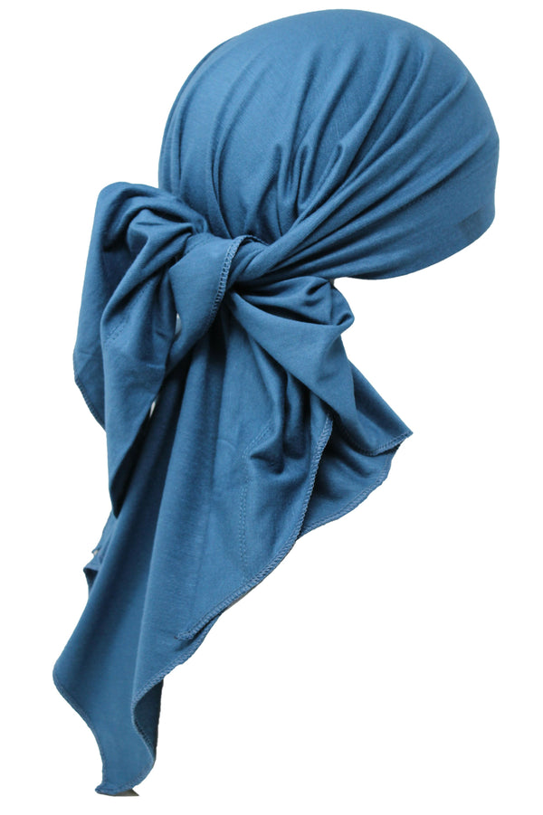 Deresina Large Cotton chemo bandana for men caroline blue