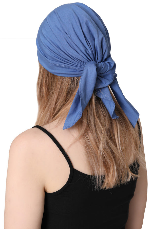 Simple Tie Bandana - Azur