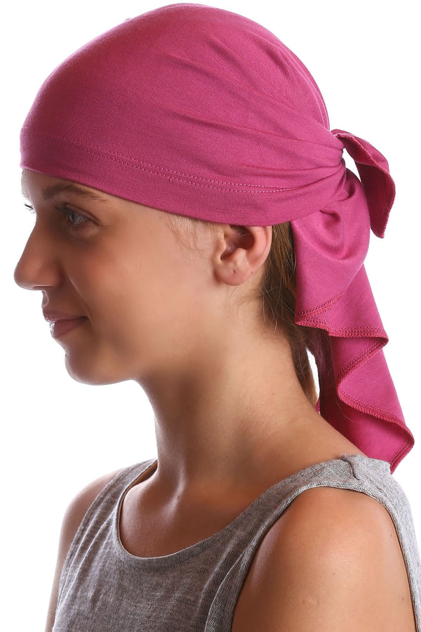 Deresina Teen indoor bandana for hairloss cherry
