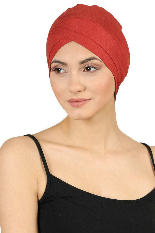 W Front Cotton Cap - Cinnamon