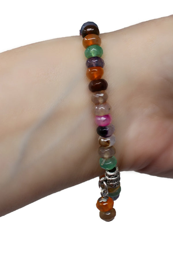 Energy Balance Semi Precious Gemstone Bracelet - Colourful Tourmaline