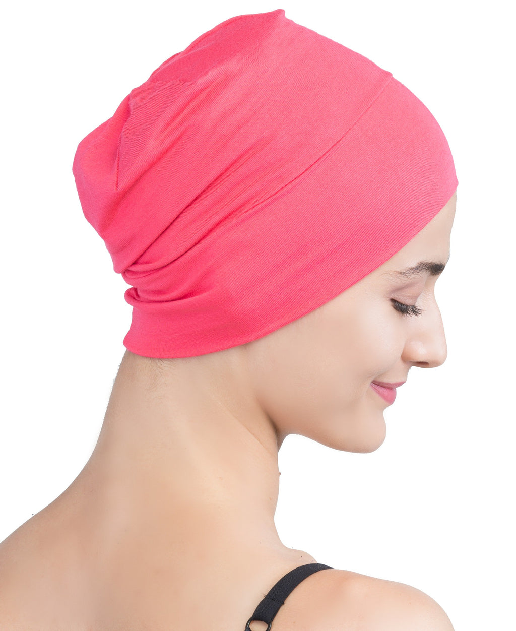 Wrap-fit Sleep Cap - Coral