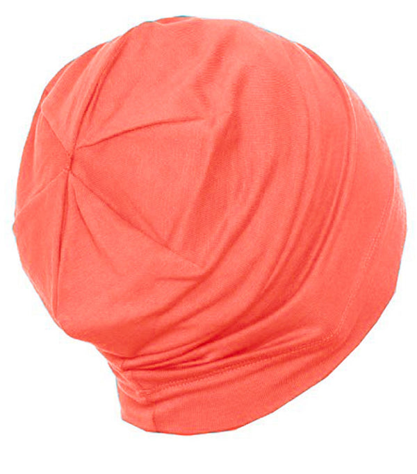 Deresina Cotton beanie for men hairloss coral
