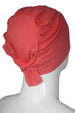 Unisex Tie Back Cotton Cap - Coral