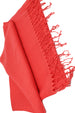 Solid Fringed Long Shawl -Coral