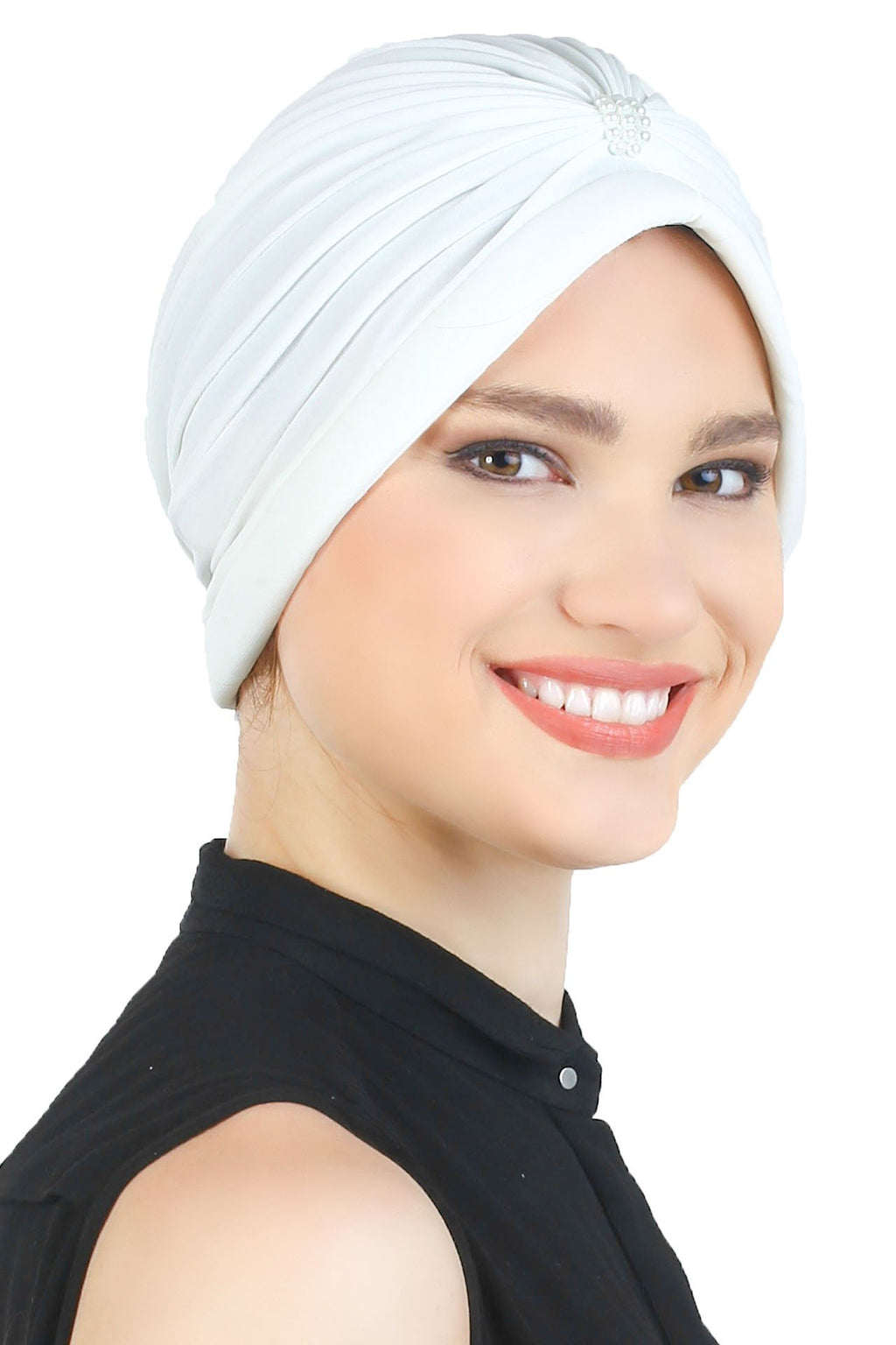 Deresina Pearl detail turban for cancer patients cream
