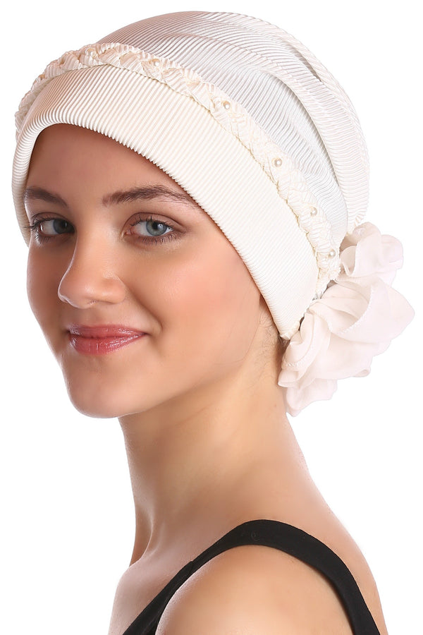 Deresina Braided beaded hat for hairloss for hairloss cream