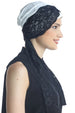 Deresina diamond patterned chemo turban cream black