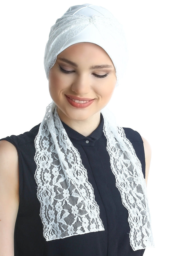 Deresina diamond patterned chemo turban cream cream
