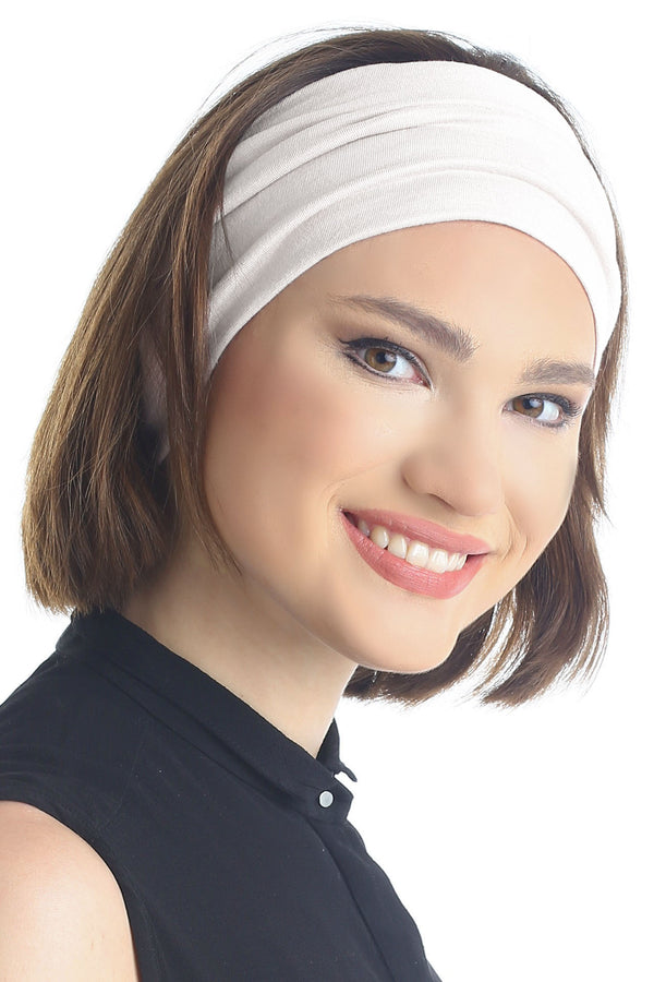 Plain Headband - Cream