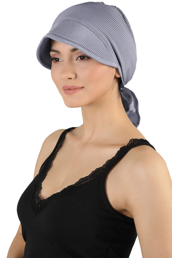 Tie Back Casual Pretty Hat - Grey