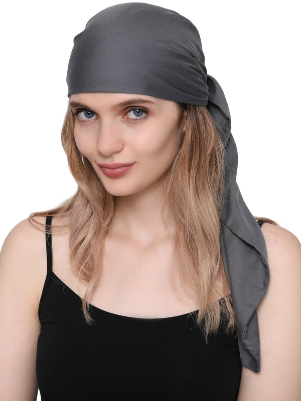 Unisex Scarf Face Mask, Headscarf, Neckscarf, Bandana- Dark Grey