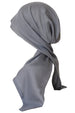 Easy Tie Head Scarf  (Dark Grey)