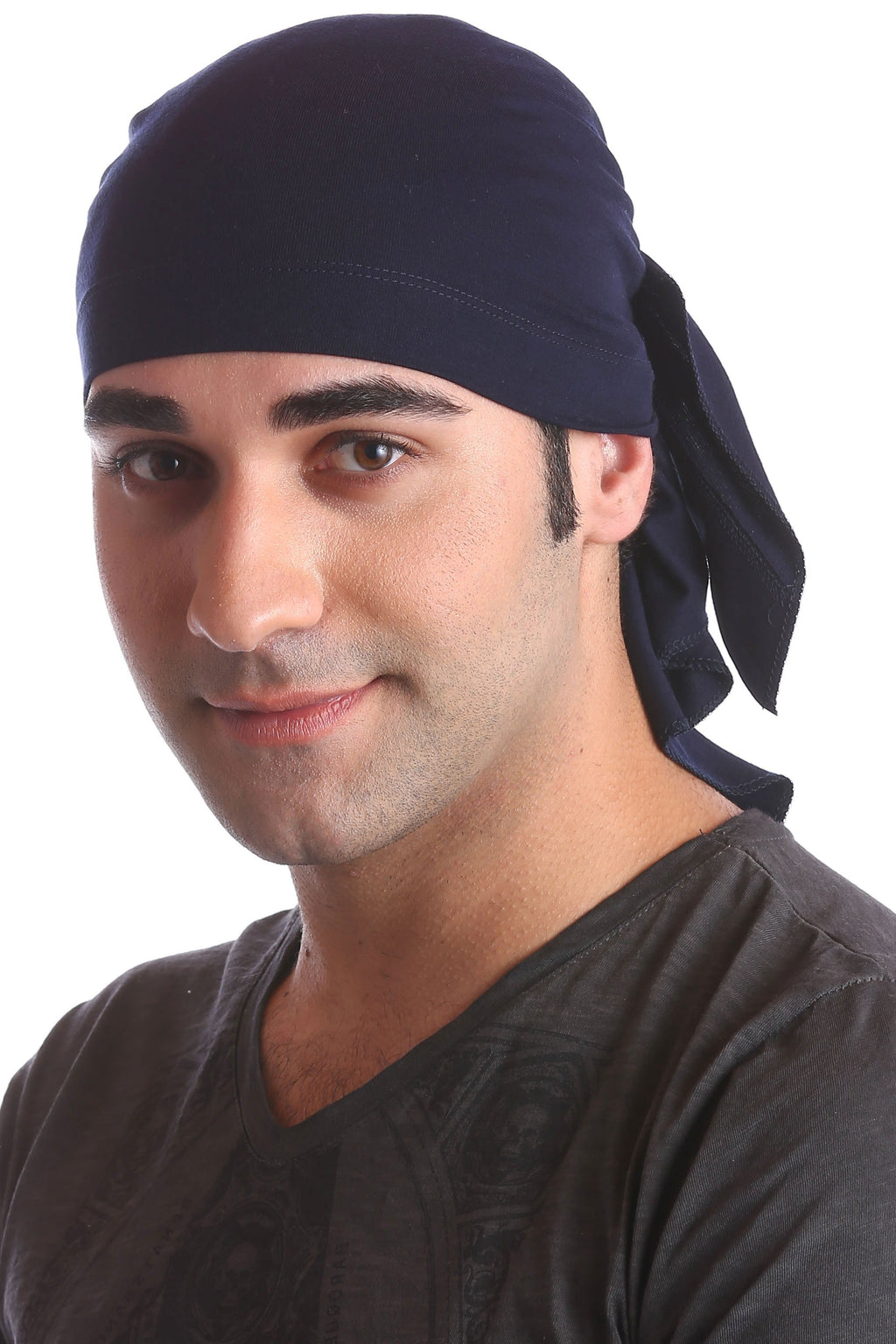 cotton chemo bandana for men navy