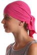 Deresina Teen indoor bandana for hairloss deep pink