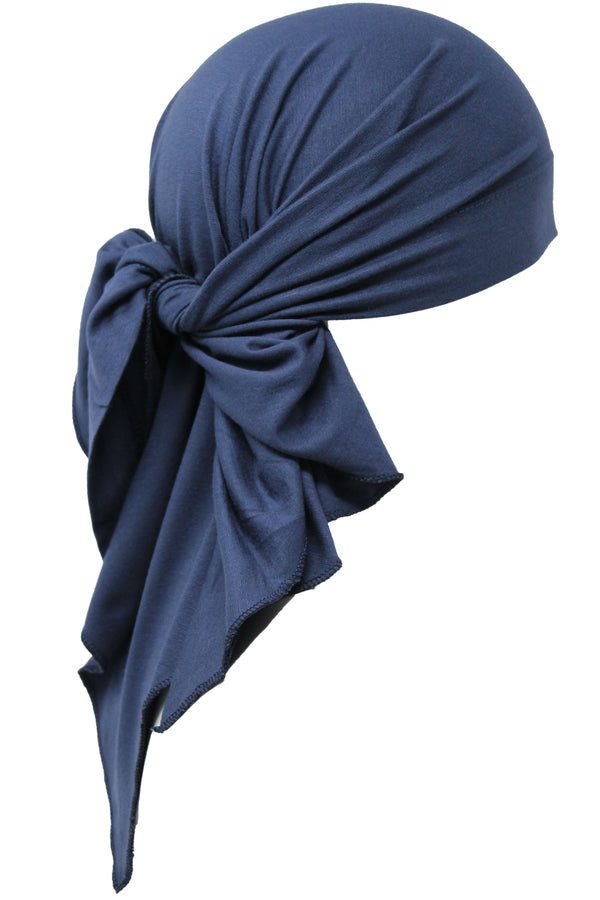 Deresina Large Cotton chemo bandana for men denim