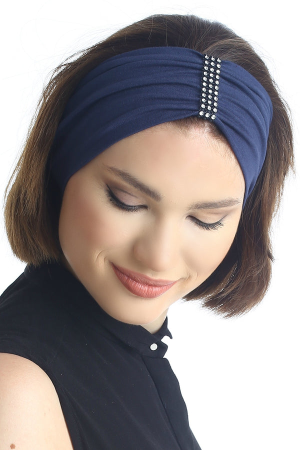 Jewelled Headband (Denim)