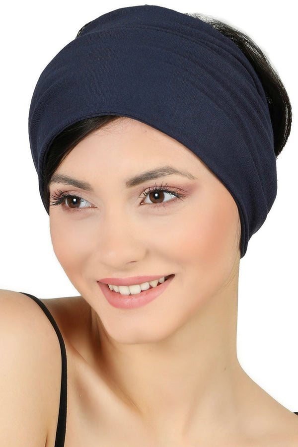 Plain Headband - Denim