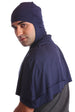 Hooded Cotton Cape Poncho for Men - Denim