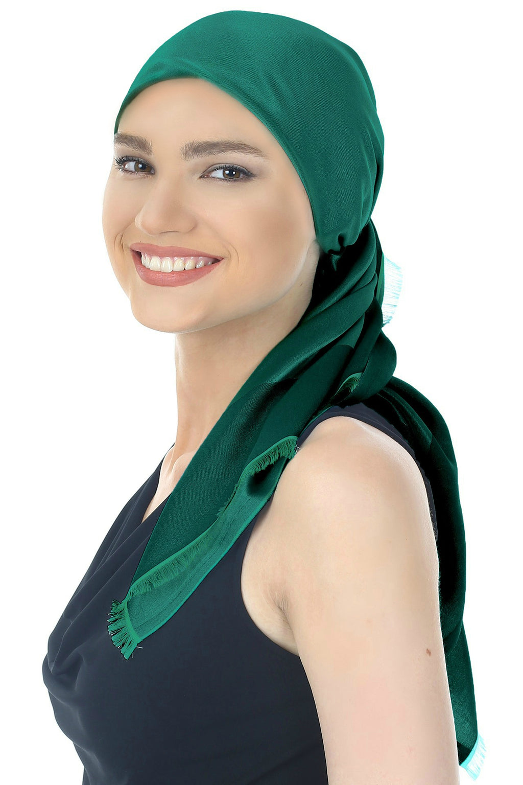 Reversible Square Scarf - Emerald