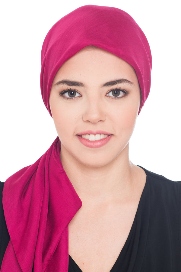 Deresina Ultra Soft Chemo Headscarf Plain Cherry
