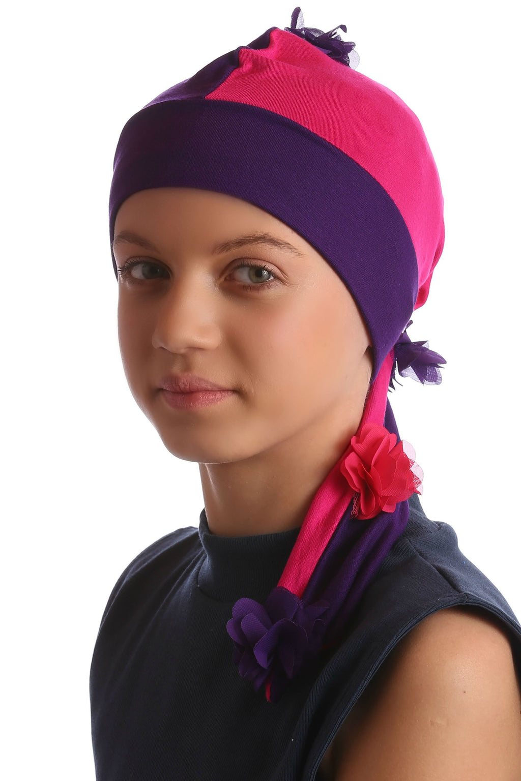 Deresina elf beanie for hairloss purple fuschia