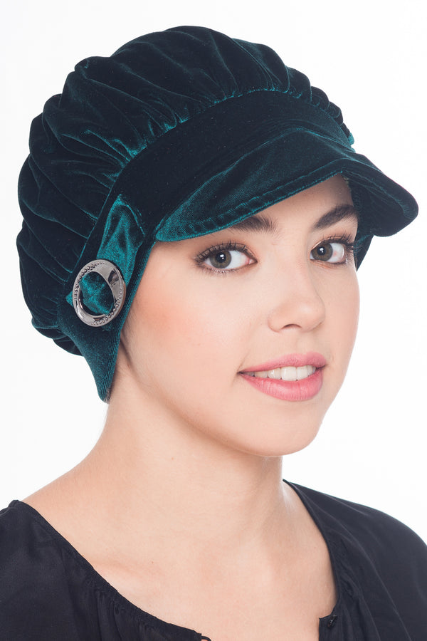 Soft Visor Velour Hat - Green