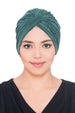 Plisse Cross Turban - Moss Green