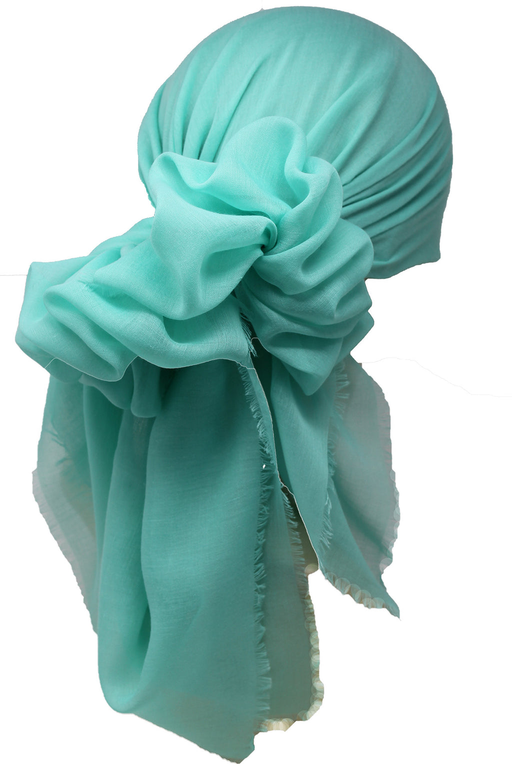 Ultra Soft Head Scarf - Spring Green with Edges