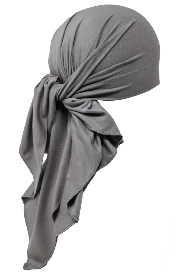 Deresina Large Cotton chemo bandana for men grey