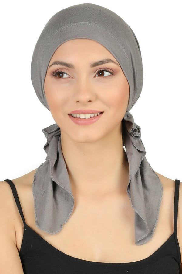 Pre tied Cotton Bandana - Grey