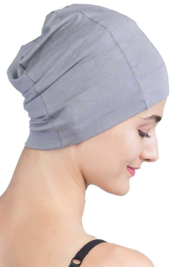 Snug Fit Sleep Cap - Grey