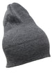 Men Knit Hat - Grey Slouch Smoky Grey Beanie