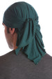 cotton chemo bandana for men huntergreen