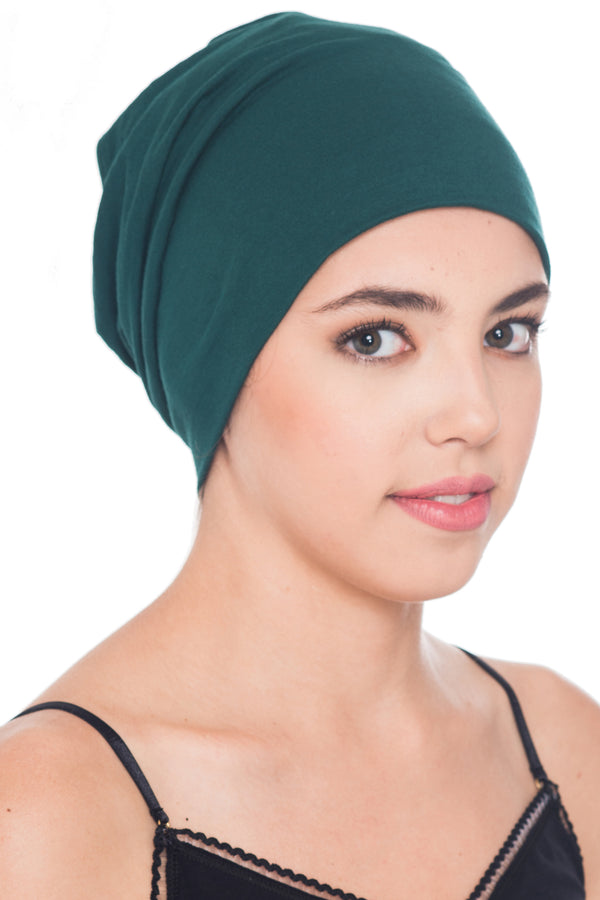 Solid Reversible Beanie - Jade Green