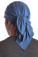 cotton chemo bandana for men indigo blue