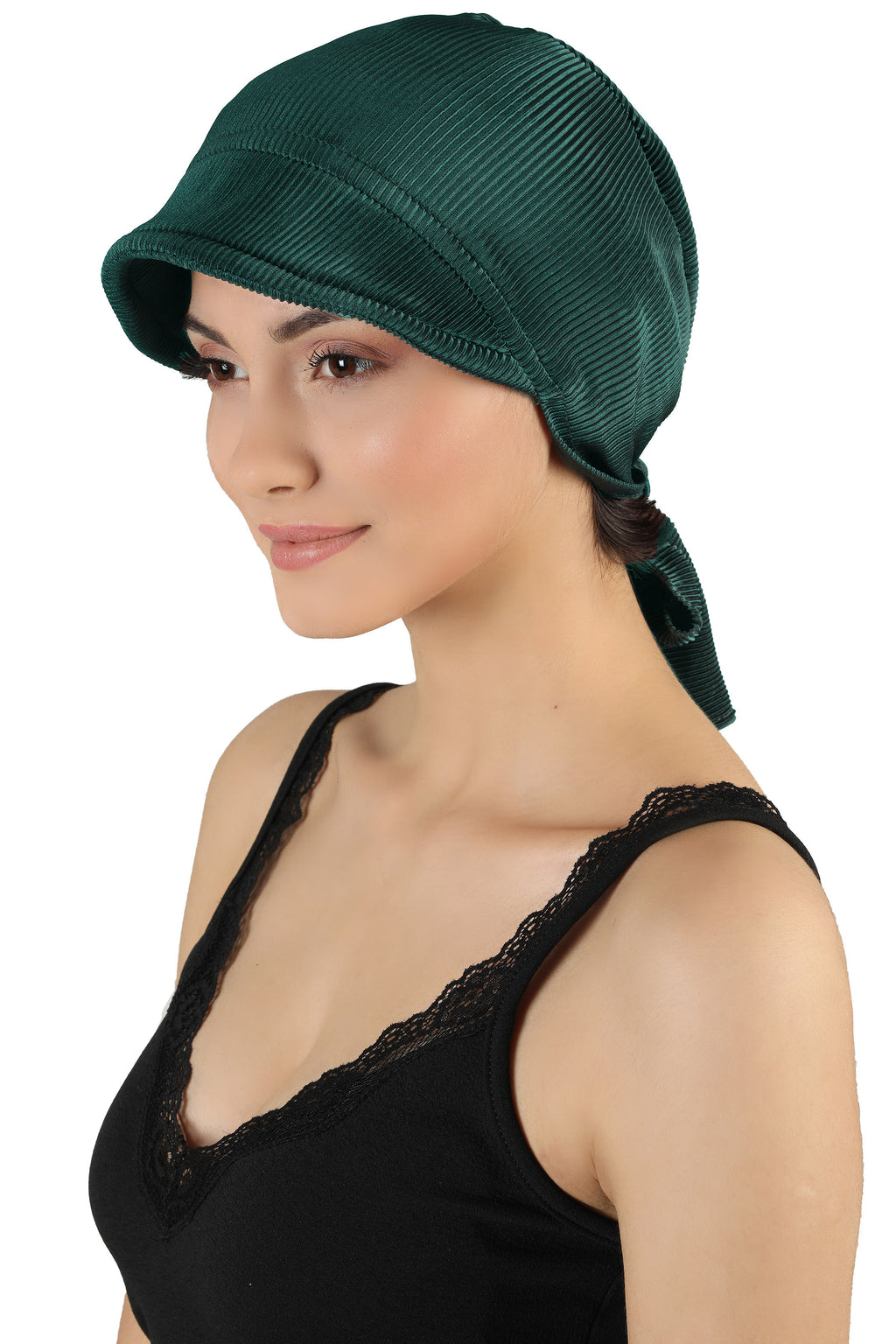 Tie Back Casual Pretty Hat - Jade Green