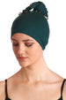 Deresina No tie bandana for women hairloss jade green