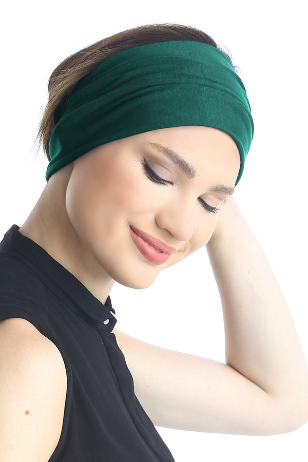 Plain Headband - Jade Green
