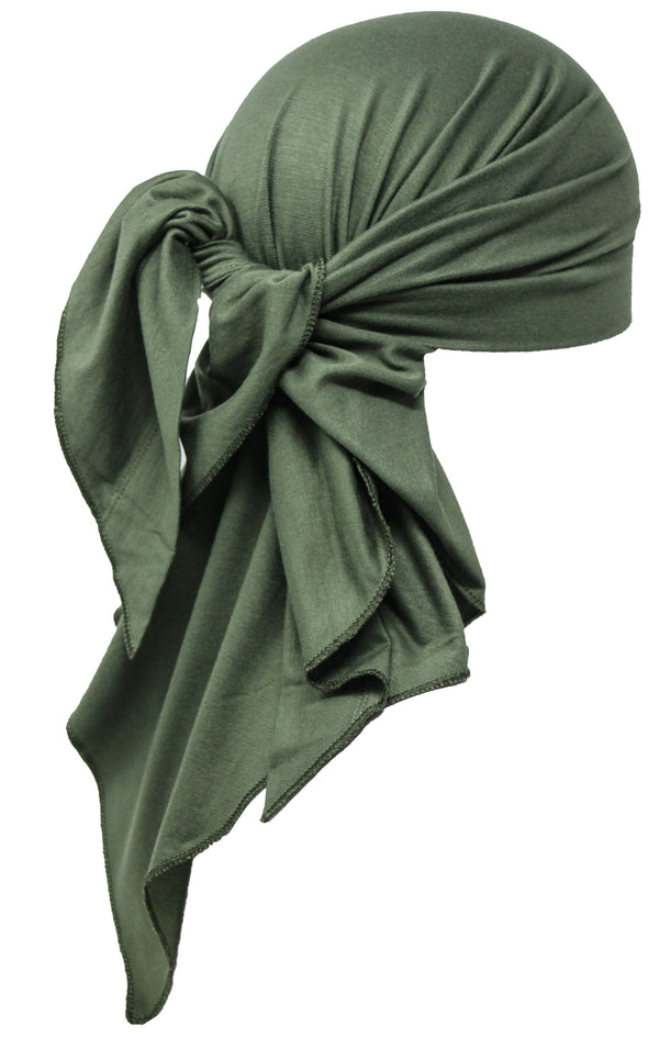 Deresina Large Cotton chemo bandana for men khaki
